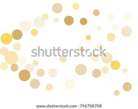 gold confetti circle decoration