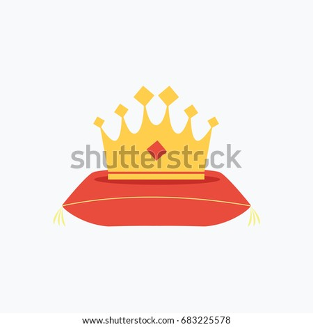 gold crown cartoon symbol with