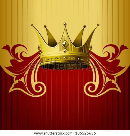 Gold crown background - photo#28