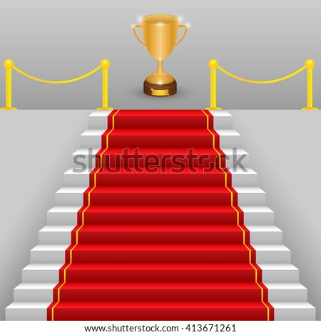 gold cup and the red carpet