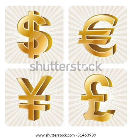 gold currency set