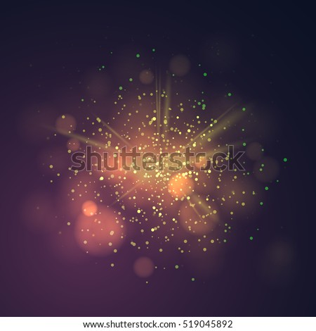 gold dust vector firework