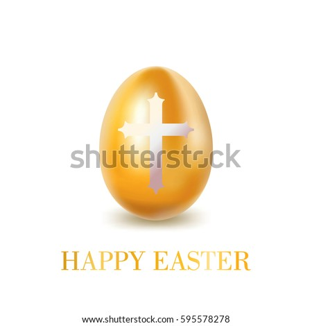 gold easter egg with  white