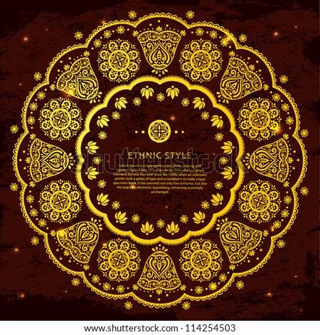 Gold ethnic ornament