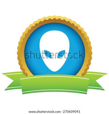 gold extraterrestrial logo on a