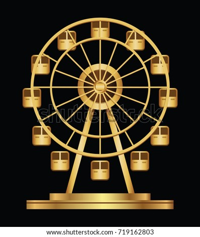 gold ferris wheel logo template