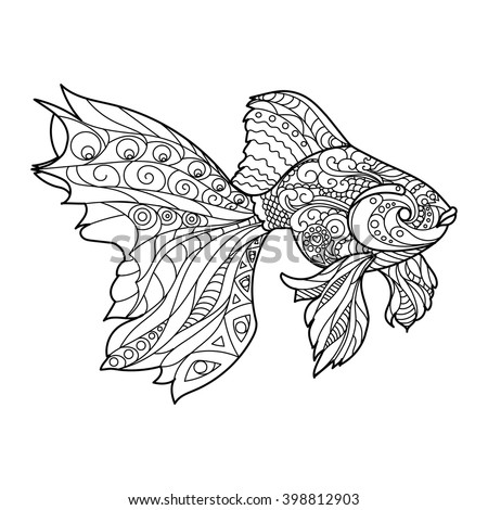 gold fish coloring book for