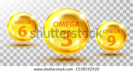 gold  fish oil pills isolated