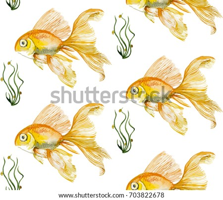 fish watercolor vector watercolor fish patterns download free vector art stock
