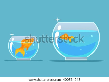 gold fish vector flat cartoon