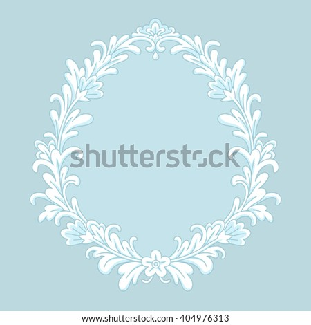 gold floral frame baroque style