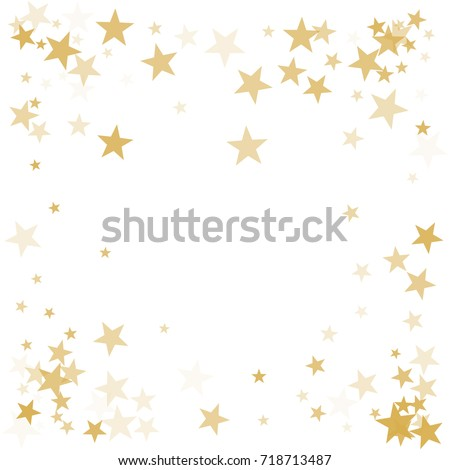 Vector Images, Illustrations and Cliparts: Gold flying stars ...