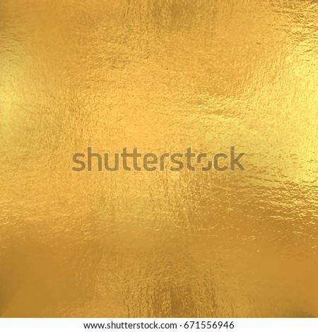 Gold foil texture, Vector background
