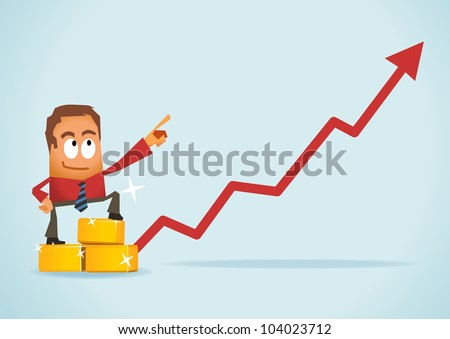 Gold for investment. Vector illustration