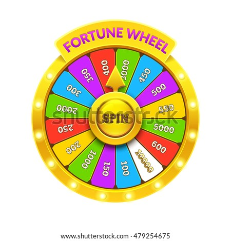 Gold Fortune Wheel illustration. Eps10 vector.