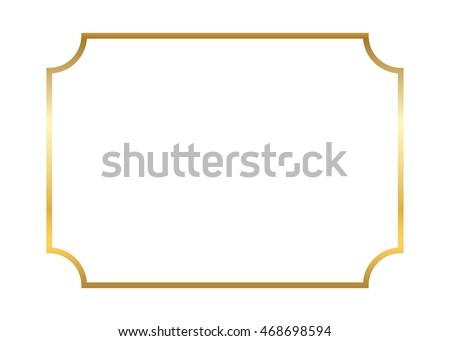 Elegant Gold Vector Frames - Download Free Vector Art, Stock ...
