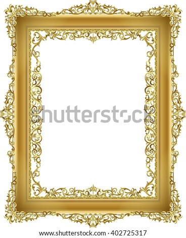 gold frame floral for picture