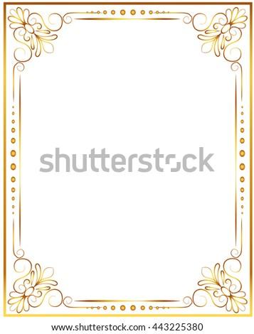 gold frame flourish and line