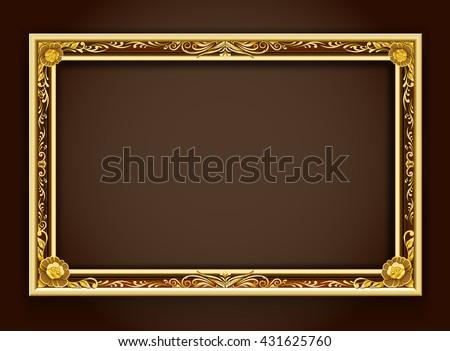gold frame frame frame border