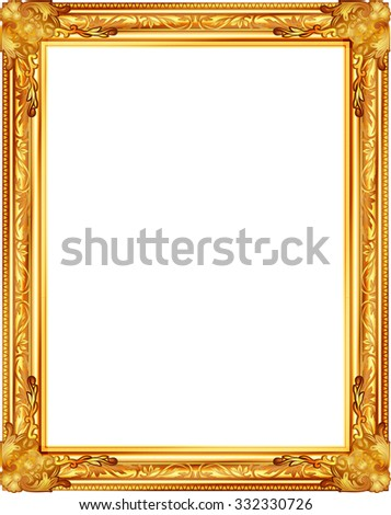gold frame louis picture vector