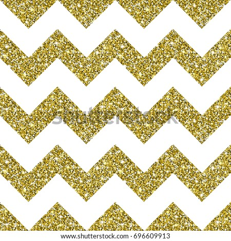 Gold Glitter Background. Golden texture with sparkles. Square chevron seamless pattern. Glittering vector. Luxury shining decoration for greeting, holiday design elements. Digitally created.