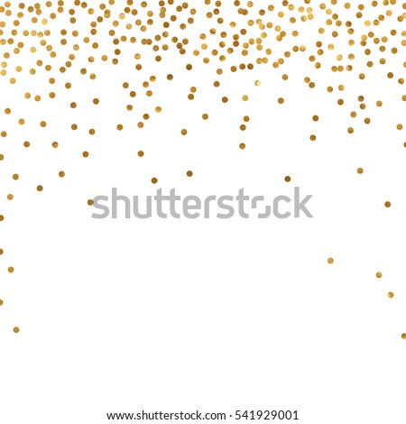 gold glitter background polka dot vector illustration