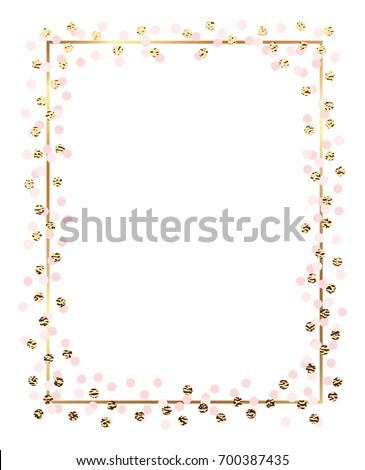 gold glitter circles  pink