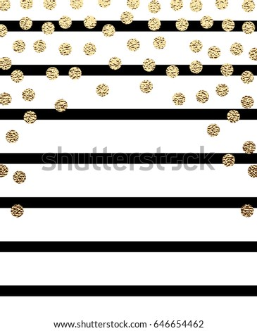 gold glitter dots with black...