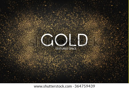 Gold Glitter Dust Texture. Gold Particles. Luxury Design. Vector illustration #364759439