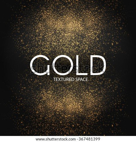 Gold Glitter Dust Texture.Gold Particles. Luxury Design. Vector illustration #367481399