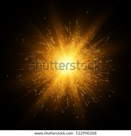 gold glitter explosion star