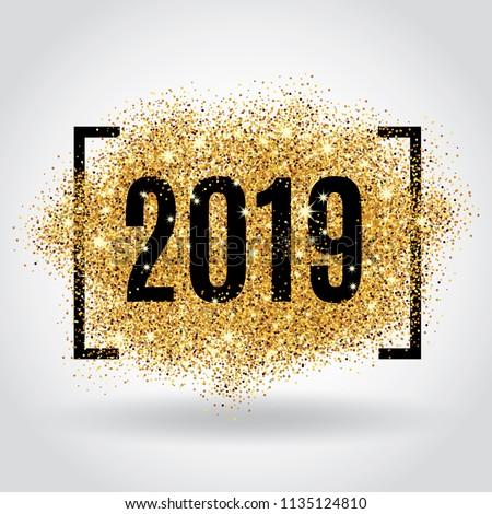 Gold glitter New Year #1135124810