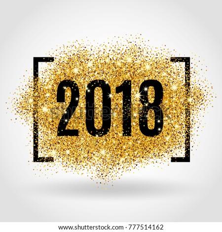 Gold glitter New Year #777514162