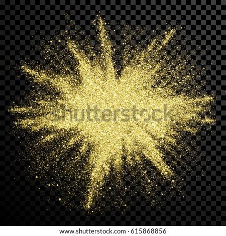 gold glitter powder explosion