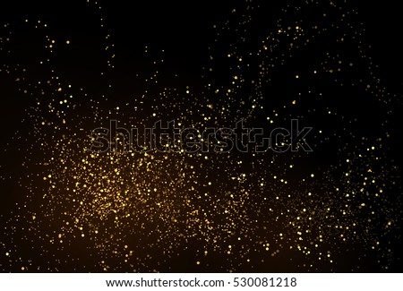 gold glitter powder splash