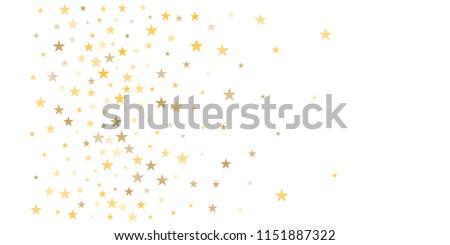 gold glitter stars background sparkle lights confetti falling magic shining flying christmas stars on