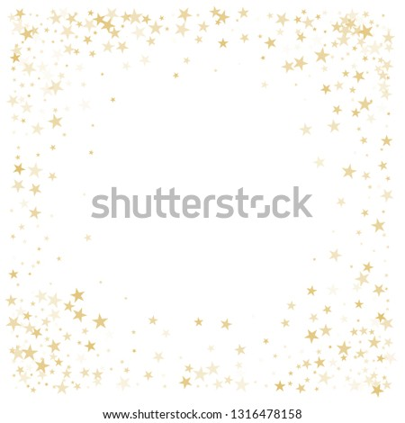 4dd226e422b7 Gold glitter stars corners frame or border