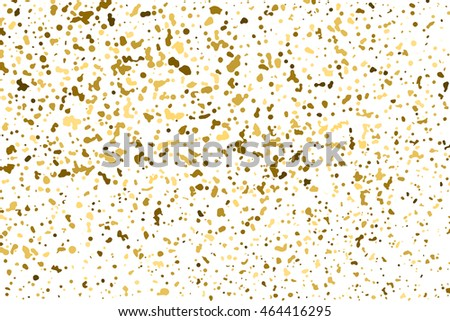 Gold glitter texture isolated on white. Golden color of winners. Aureate abstract particles on ofay substrate. Explosion of confetti shine. Celebratory background. Vector illustration,eps 10.
