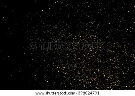 Gold glitter texture on a black background. Golden explosion of confetti.  Design element. Vector illustration,eps 10. - Shutterstock ID 398024791