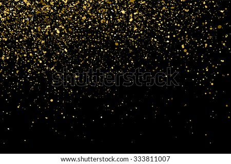 gold glitter texture on a black