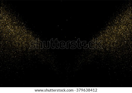 Gold glitter texture on  black background. . Design element. Vector illustration,eps 10.