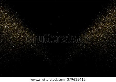 gold glitter texture on  black