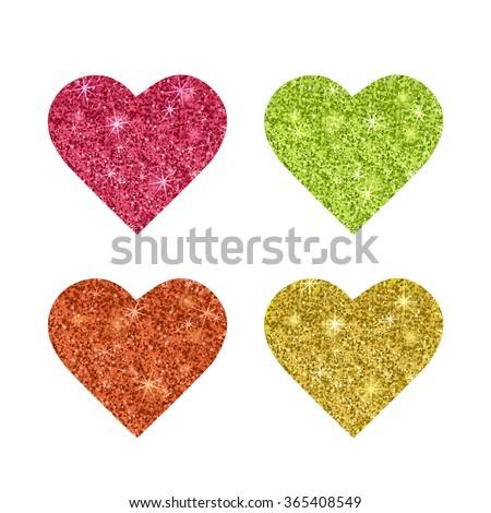gold glitter texture set of
