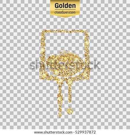 gold glitter vector icon of iv