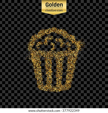 gold glitter vector icon of