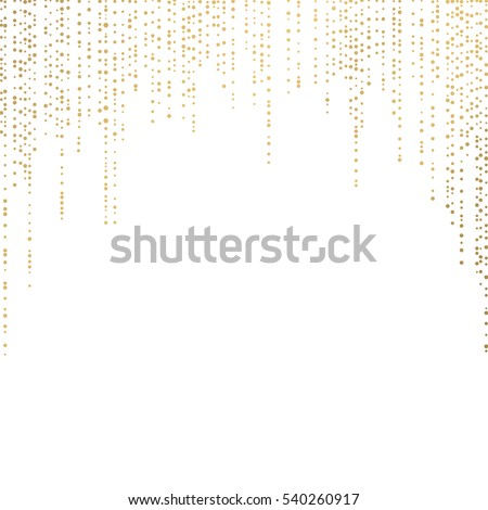 Gold glittering background vector Polka dot