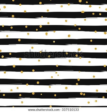 gold glittering confetti