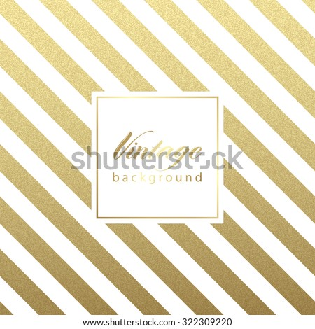 Gold glittering diagonal lines pattern on black background. . Classic pattern. Vector design