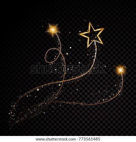 gold glittering spiral star
