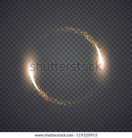 gold glittering star dust